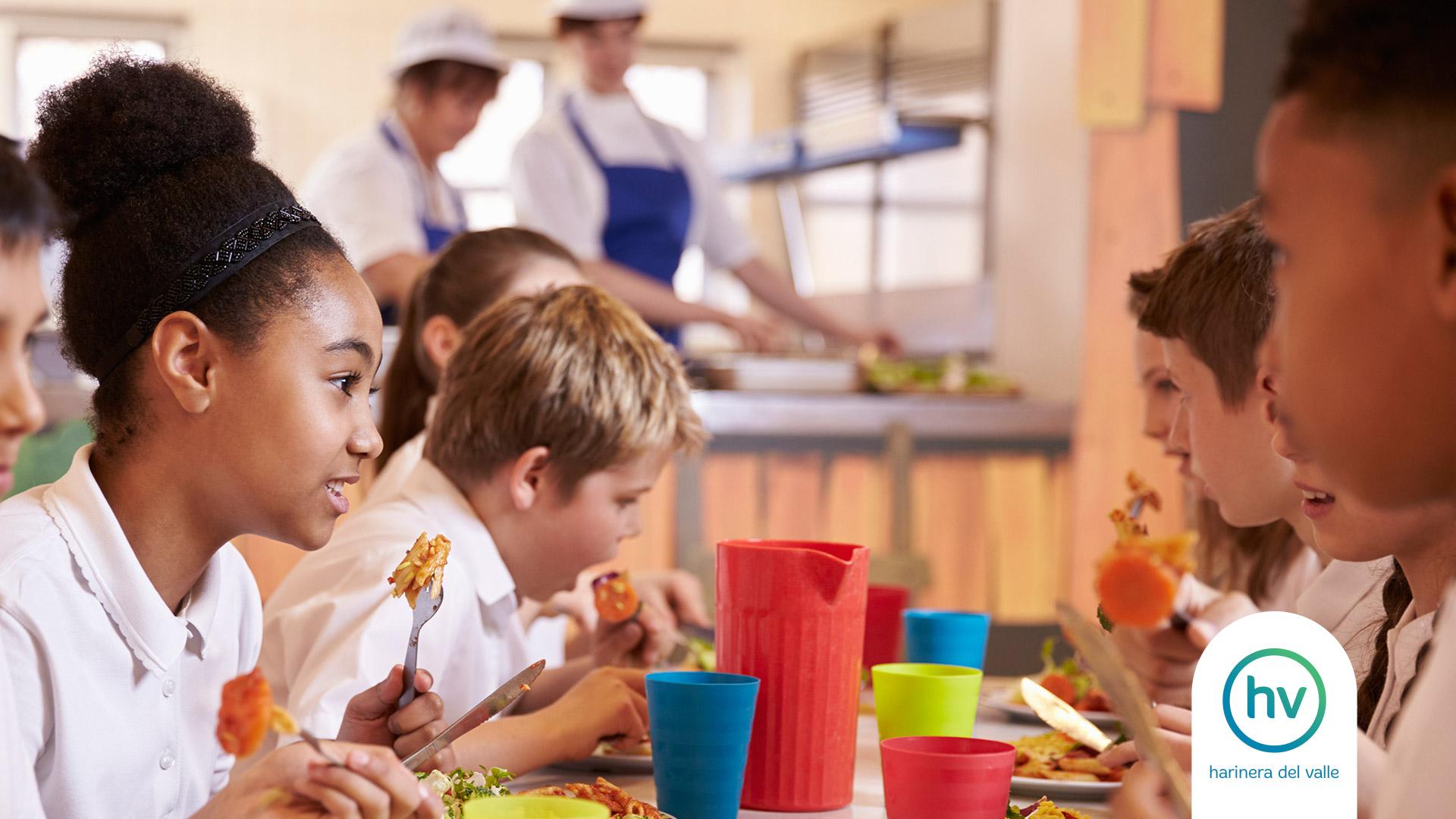 Alimentación saludable para niños y adolescentes en edad escolar