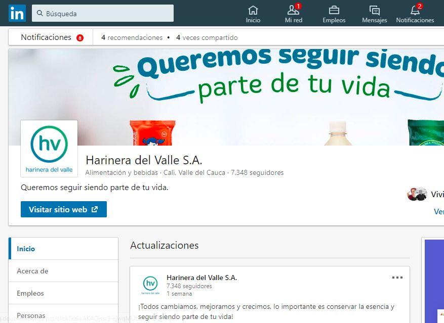 """""""¿Quieres ser parte del Equipo de Harinera del Valle?"""" está bloqueado ¿Quieres ser parte del Equipo de Harinera del Valle?"""